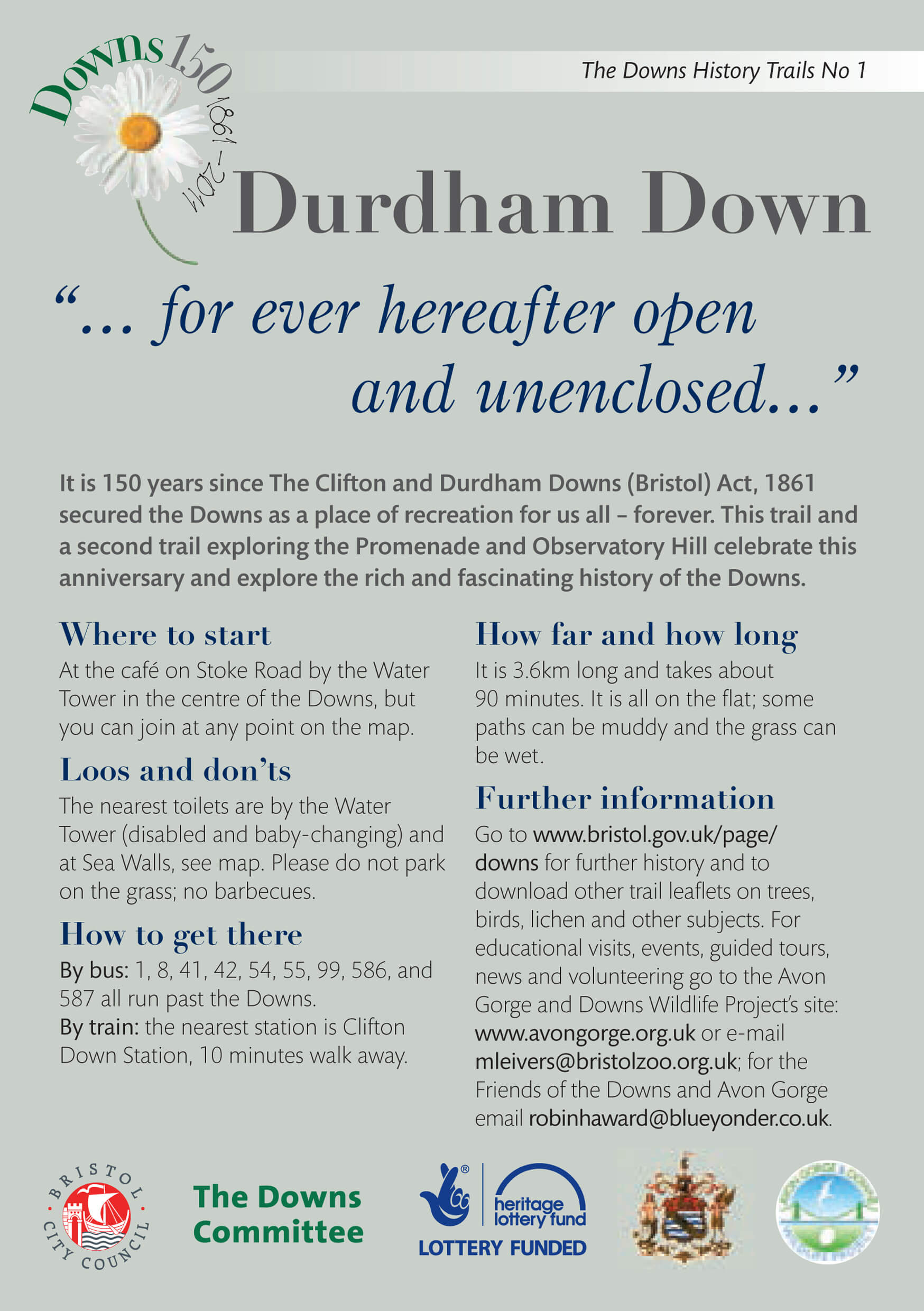 Durdham Down history trail download leaflet