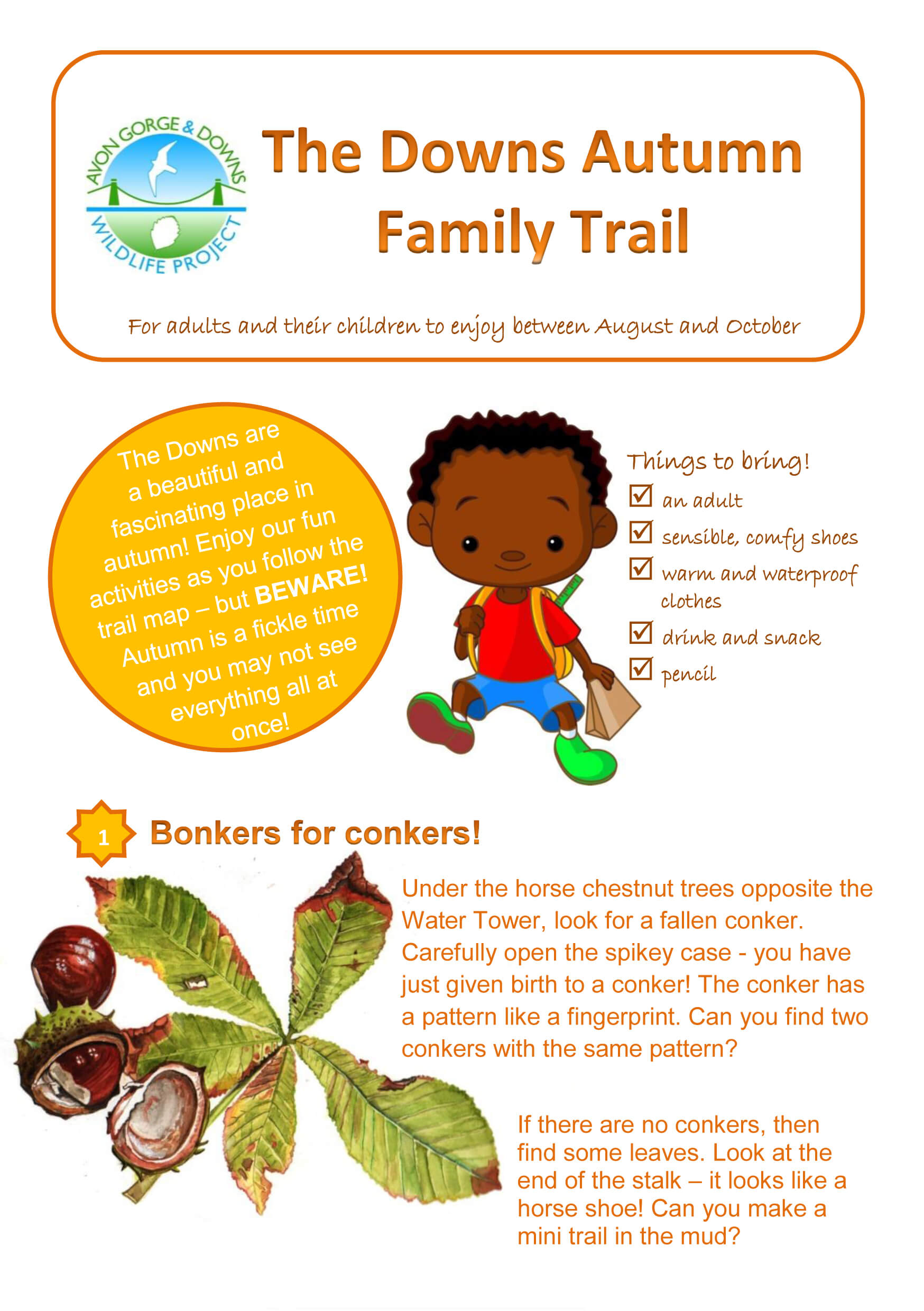 The Downs autumn family trail