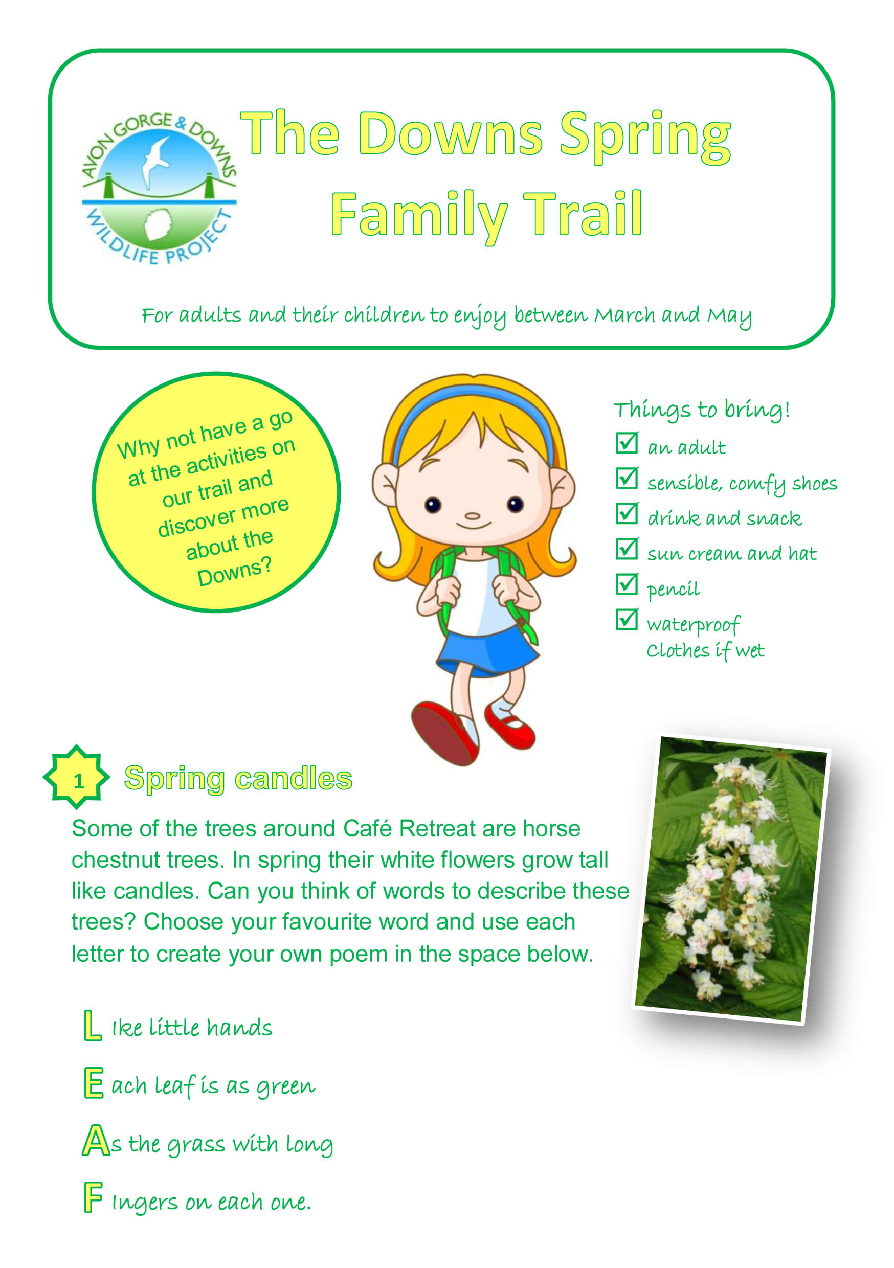 The Downs spring family trail