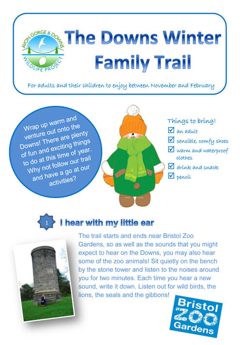 The Downs winter family trail